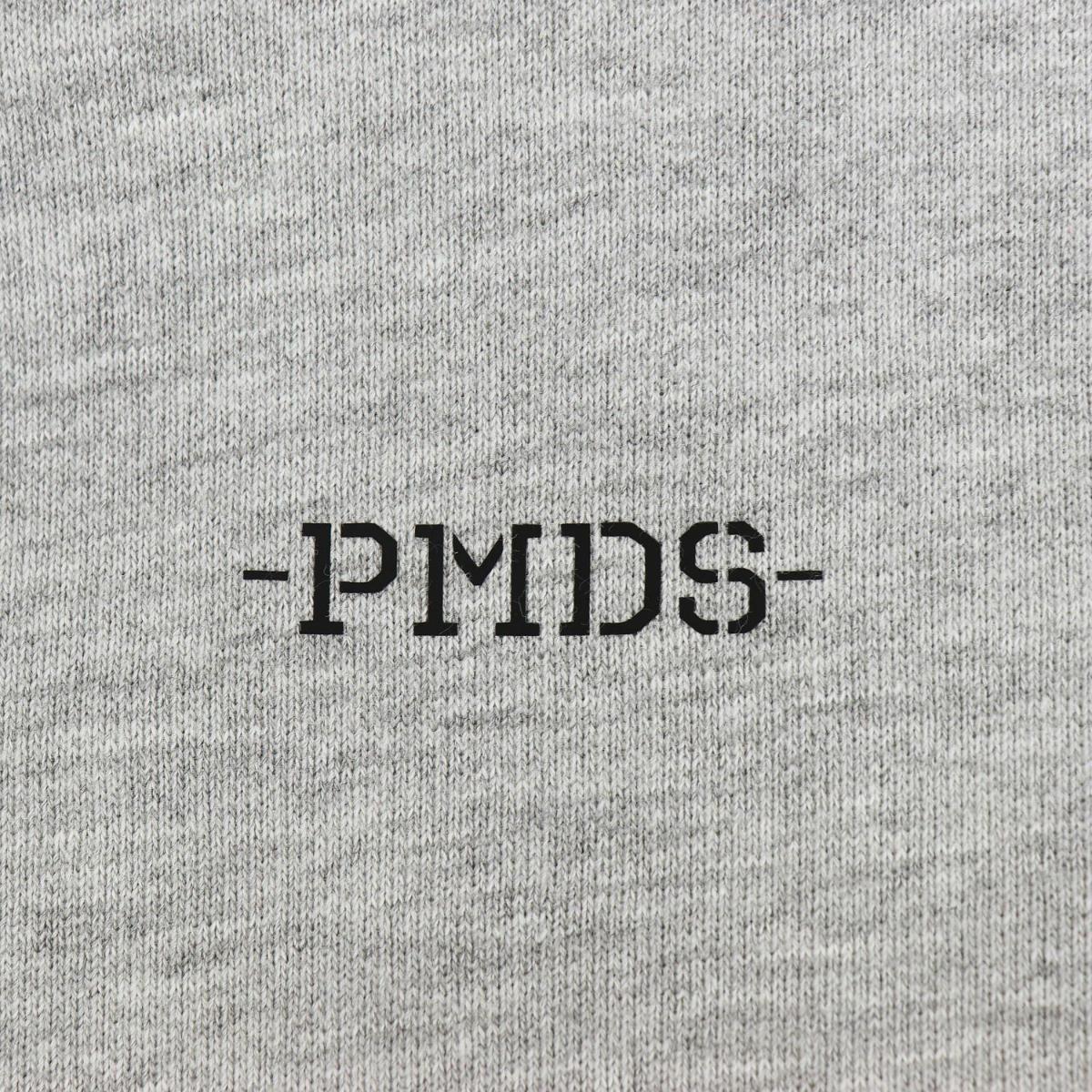 ピーエムディーエス P.M.D.S. PMDS ペイント&ダメージ加工 コットン スウェット プルオーバーパーカー SANI PMD S216445W UNICO(グレー) 春夏新作