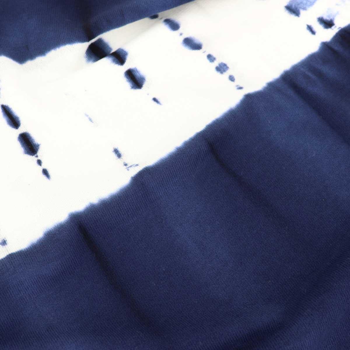 【クリアランスセール】ウールアンドコ WOOL&CO メンズ コットン クルーネック 半袖 タイダイ染め サマーニットセーター WO2110 228-16426 79(ネイビー)【返品交換不可】