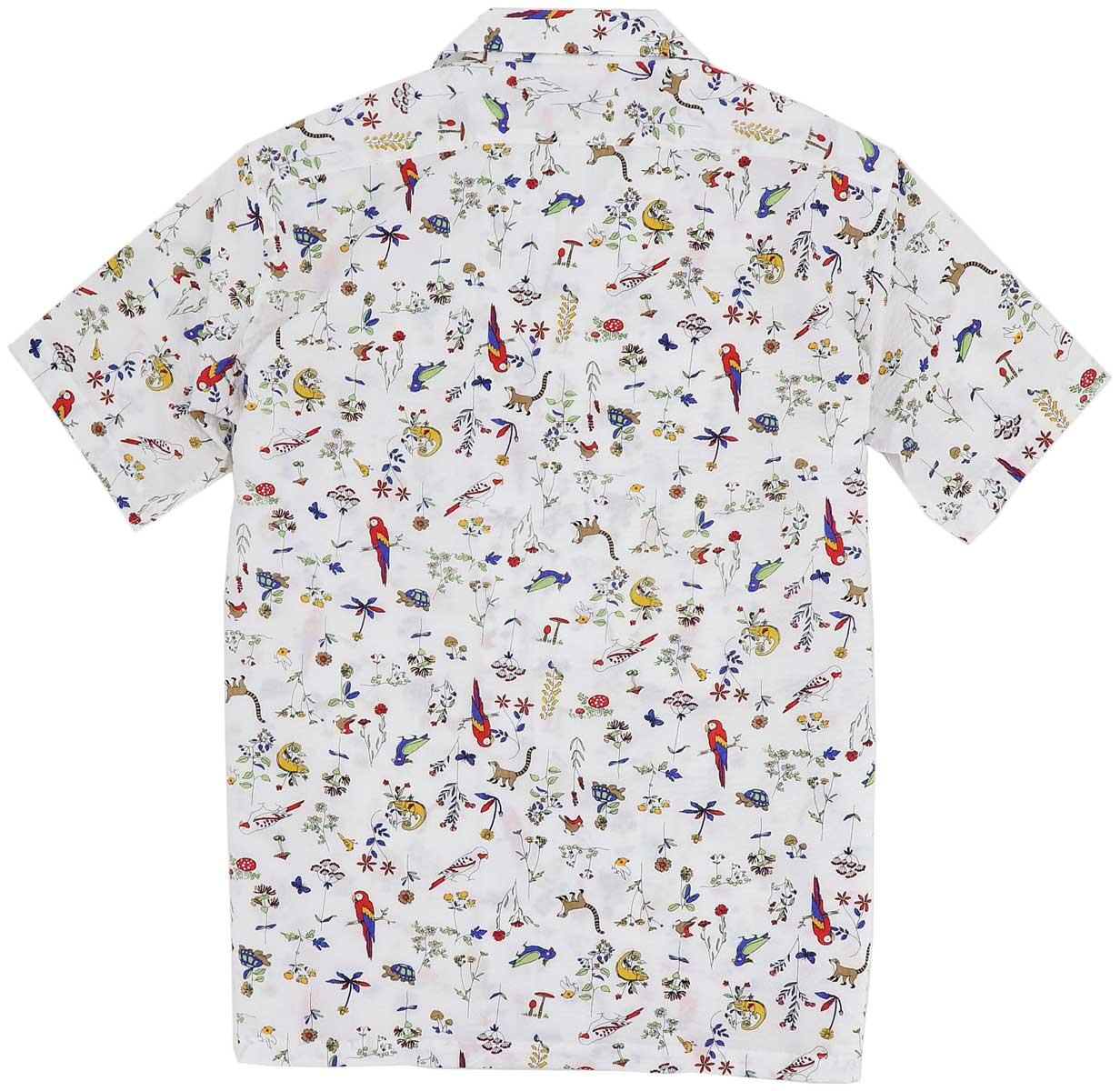 スウィープ ロサンゼルス Sweep!! LosAngeles メンズ リゾートライン:シアサッカー 南国プリント オープンカラーシャツ リゾートライン / SL140005 SWP WHITE(ホワイト) 春夏新作