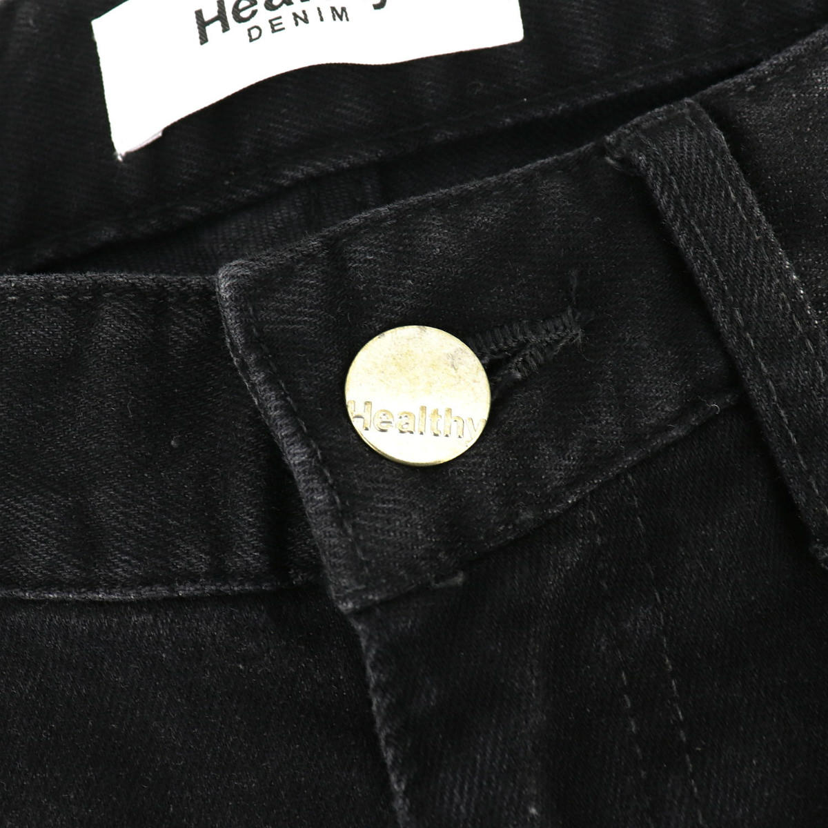 ヘルシーデニム HEALTHY DENIM レディース ストレッチ スリムテーパードデニムパンツ HL59559-bk Lime Black Used(ブラック)春夏新作