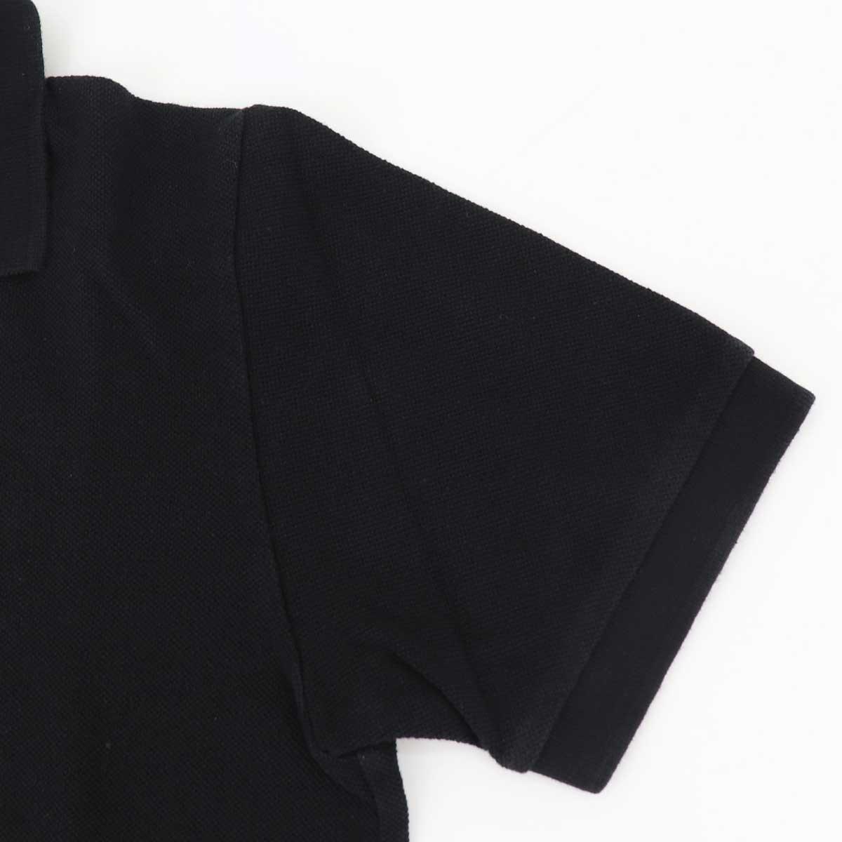 【クリアランスセール】スウィープ!! ロサンゼルス SWEEP!! LosAngeles メンズ コットン 鹿の子 半袖 ポロシャツ PIQUE POLO SWPQPL-16 BLACK(ブラック)【返品交換不可】