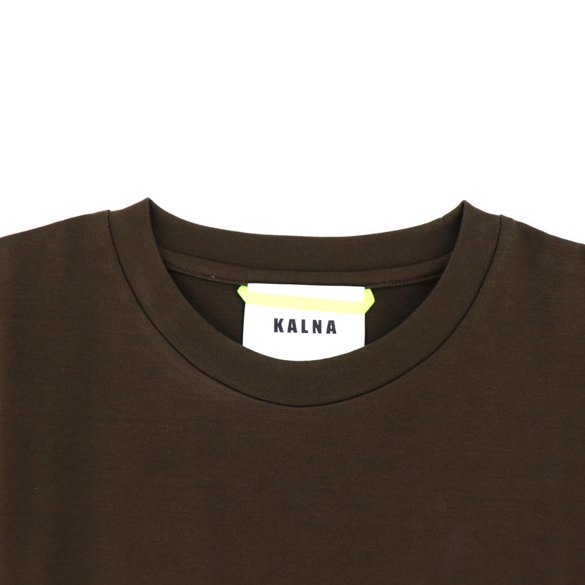 カルナ KALNA レディース ウルティマ コットン ロゴ クルーネック 半袖Tシャツ 1A11201S KAL 078(ブラウン) 春夏新作