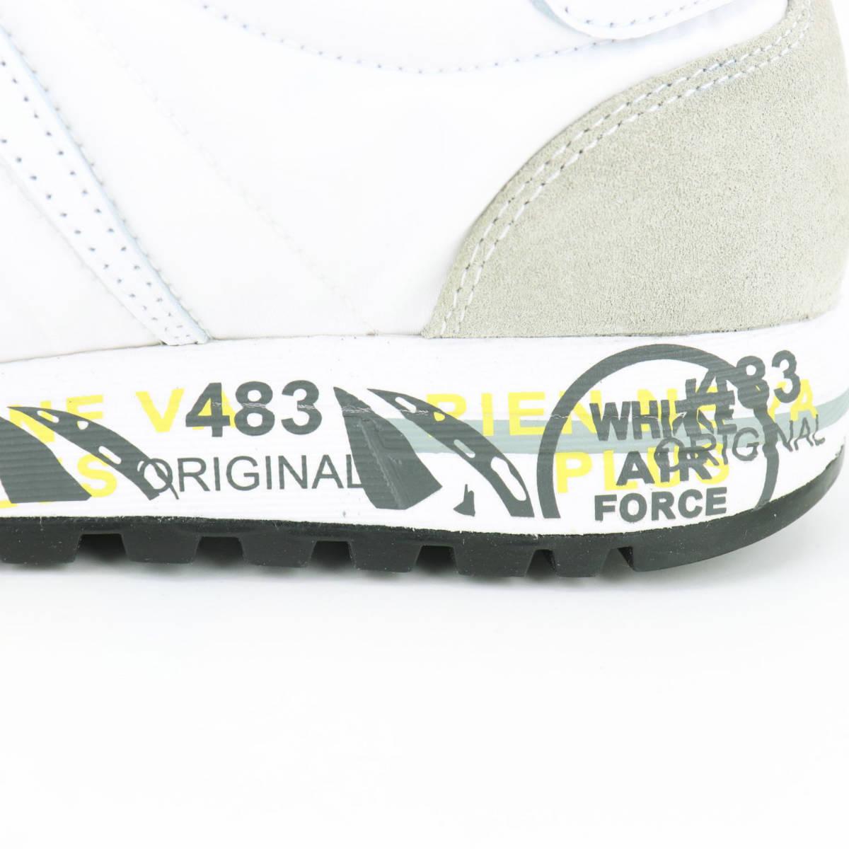 プレミアータホワイト PREMIATA WHITE メンズ スエード ナイロン ローカットスニーカー LUCY 206EA(ホワイト)秋冬新作