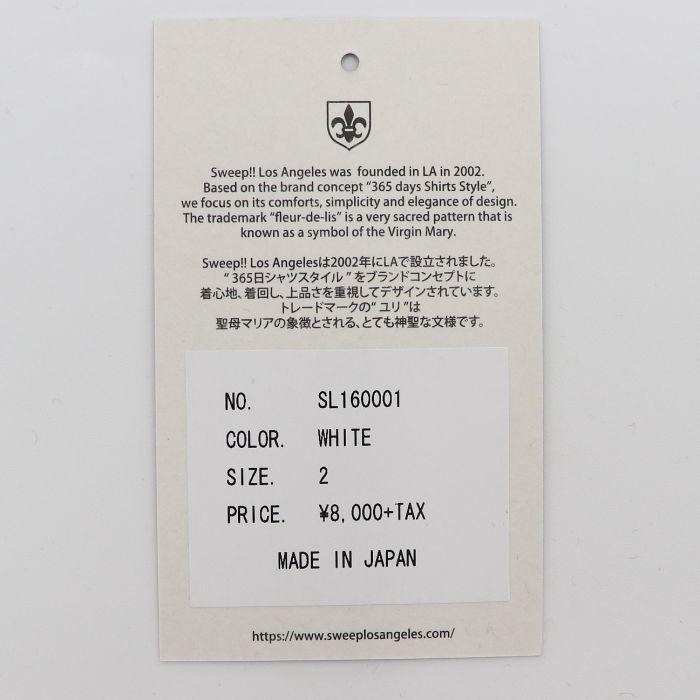 スウィープ!! ロサンゼルス SWEEP!! LosAngeles メンズ コットン 半袖 クルーネックTシャツ BASIC T SHIRTS SL160001 WHITE(ホワイト)春夏新作