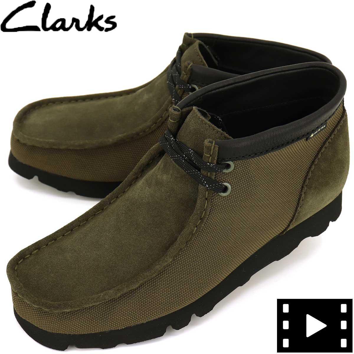 クラークス オリジナルズ CLARKS ORIGINALS メンズ ゴアテックス バリスティックナイロン×スエード×レザー ワラビーブーツ GORETEX WALLABEE BOOT GTX 26154788 OLIVE TEXTILE(オリーブ)秋冬新作
