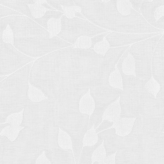 <防炎・多機能(遮像・UVカット・遮熱)>リーフ柄薄地カーテン【SIKボイル シャネツプラスライト リーフ WH】ホワイト S4511