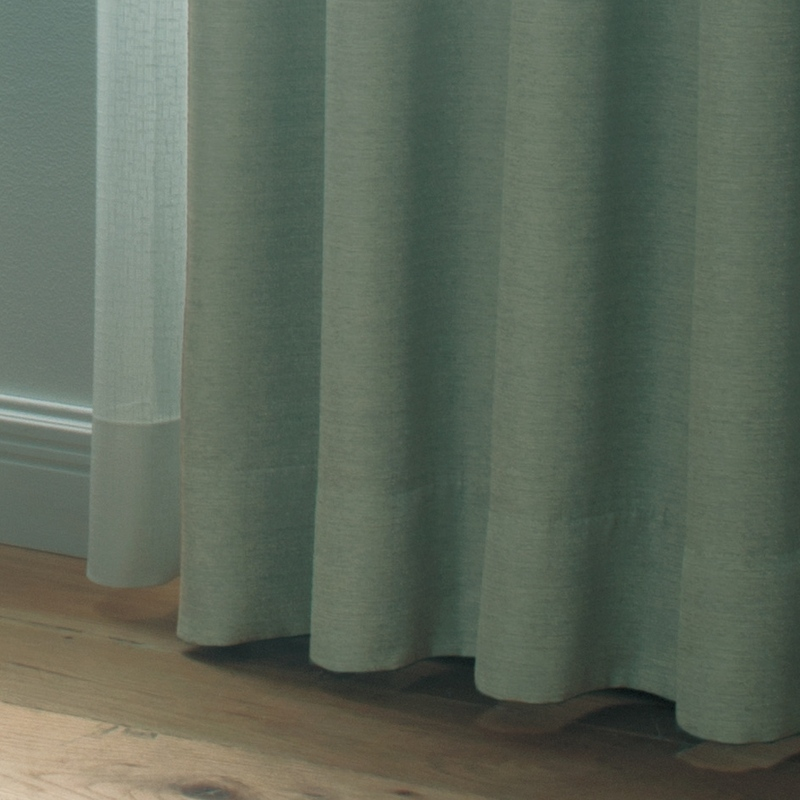 ●新商品10月末まで10%オフ<防炎>ほのかな光沢とかっちりした風合いの遮光1級カーテン【SI ホノル GN】グリーン S3465