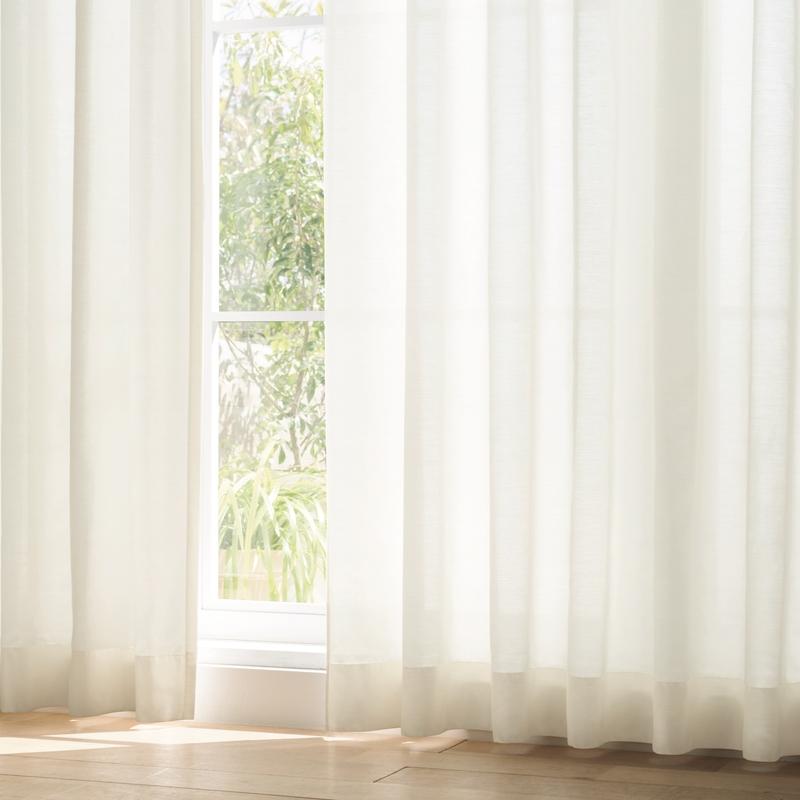 ●新商品7月末まで10%オフ<防炎>24時間ミラー&光拡散で採光。無地ボイルカーテン【SIKボイル プラスライトムジ IV】アイボリー S3615