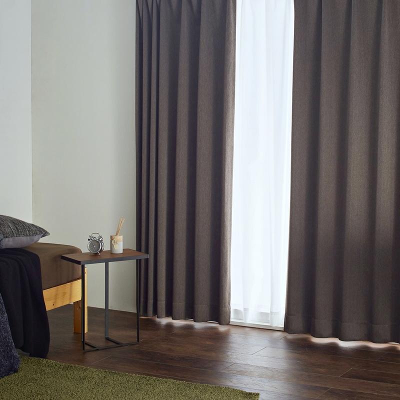●新商品8月末まで10%オフ・インテリアをかっこよく引き締める・流れる木目のような遮光2級カーテン【グレーン BR】ブラウン