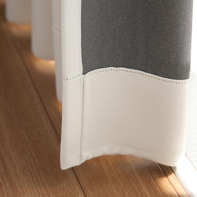 <無地遮光>滑らか風合い&アイボリー系遮光1級カーテン【ミルキー プレーン IV】アイボリー