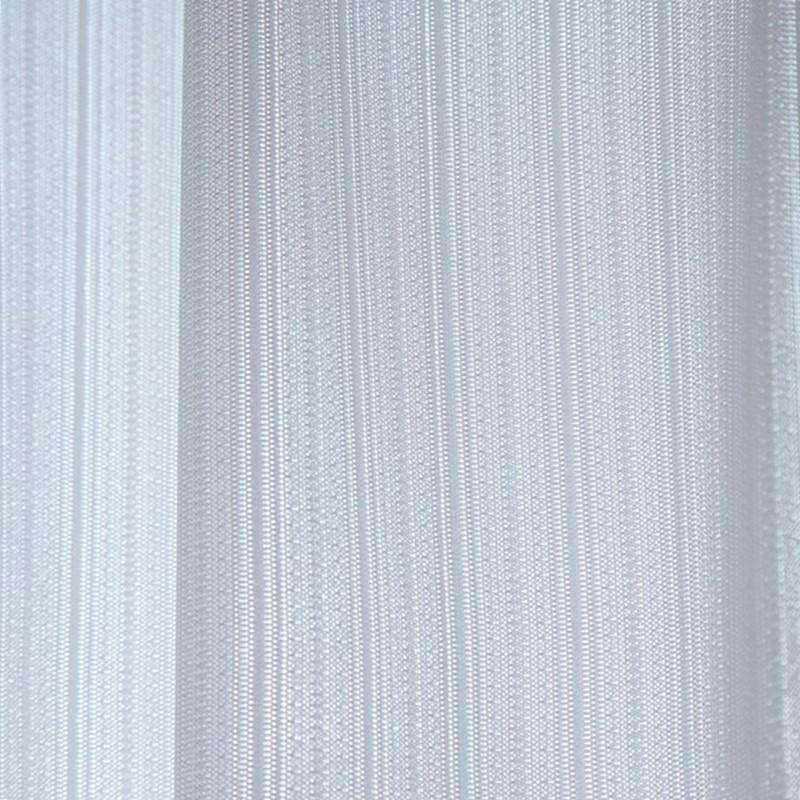 <多機能>ストライプ柄|昼夜ミラー・UVカット90%以上レースカーテン【UV24フォース ストライプ WH】ホワイト