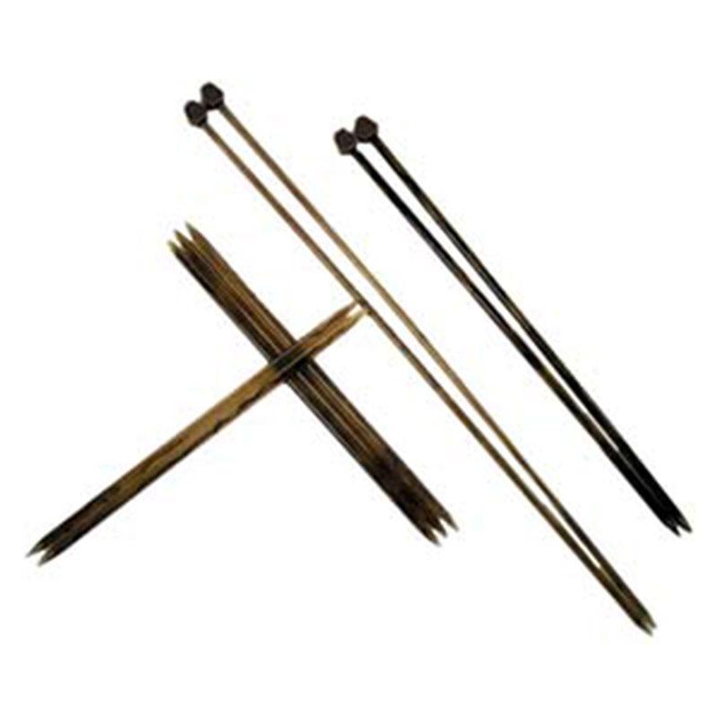 カゼイン編み針2本針-23cm <手編み 棒針>