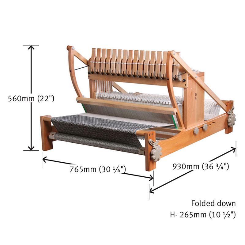 アシュフォード テーブルルーム60cm16枚そうこう機 ラッカー塗装 組立キット <卓上 手織り機 ashford>