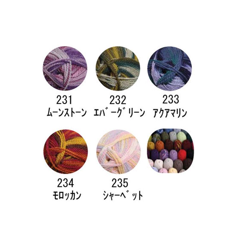 アシュフォード テカポヤーン ランダムカラー 8ply ウール100% 100g玉毛糸 <織り 編み ニット 毛糸 ashford>