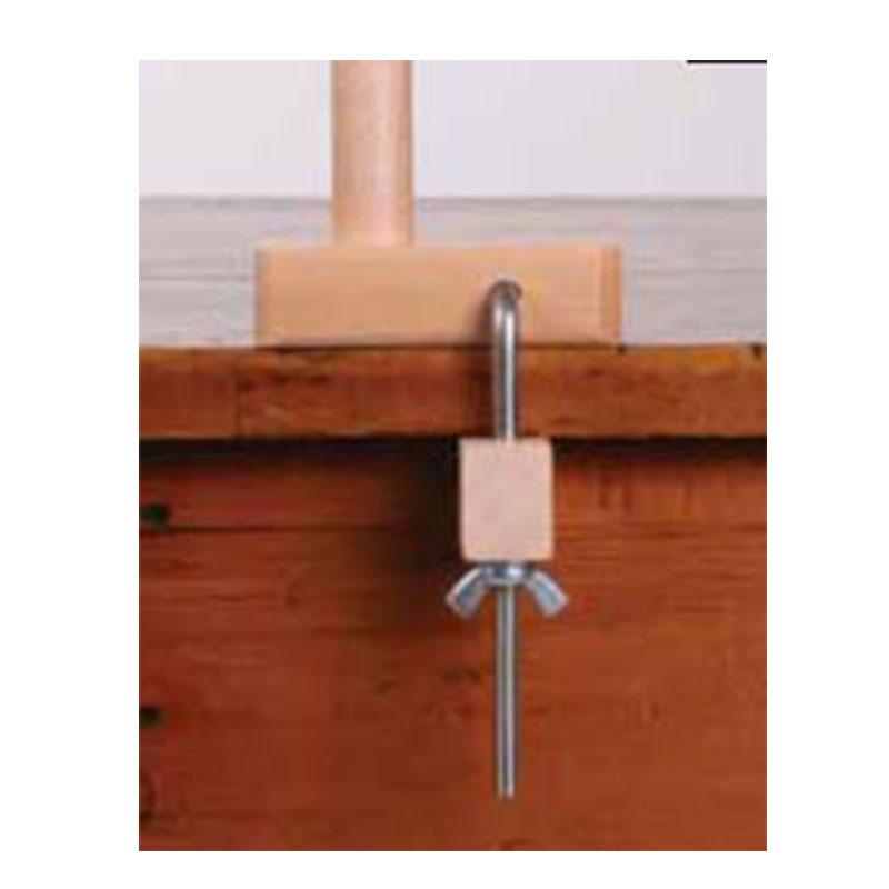 アシュフォード 整経棒とクランプのセット 白木 <卓上 手織り機 ashford>