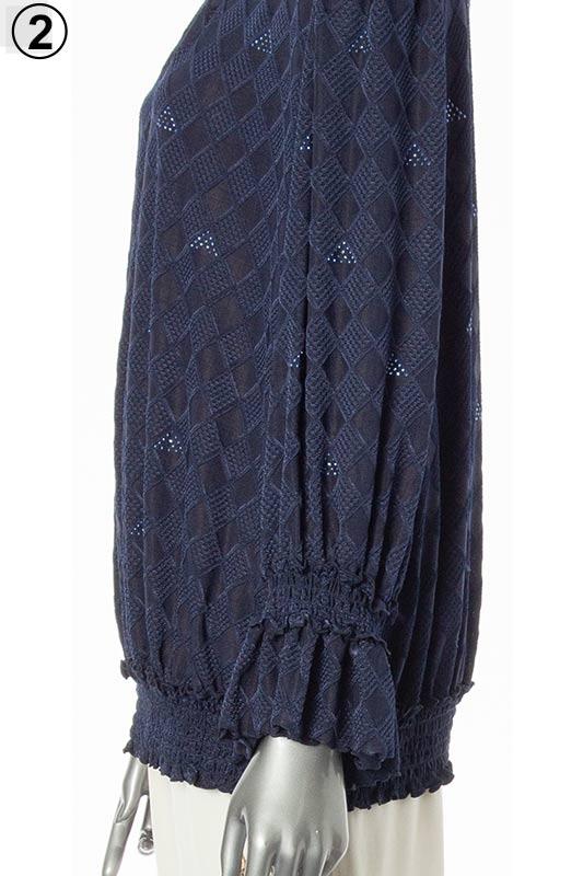 【アウトレット商品】674250 シャーリングフェミニンブラウス(人気のフリル袖♪)