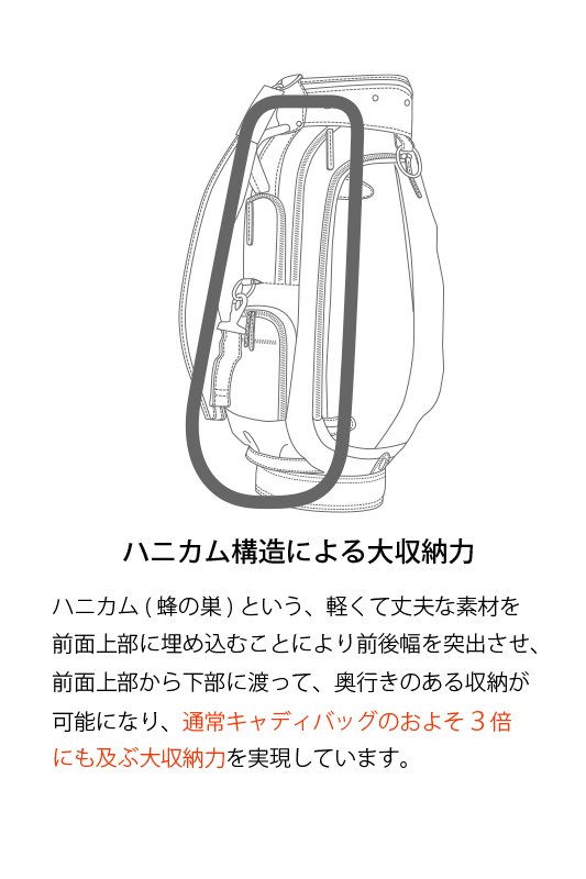 【新作】490207C キャディーバッグ
