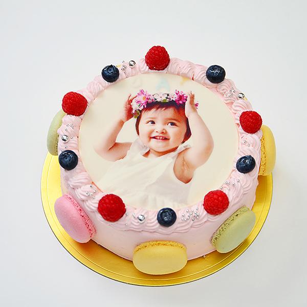 マカロン 写真ケーキ
