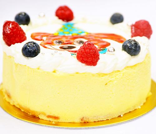 《キャラクターイラストケーキ》ベイクドチーズ