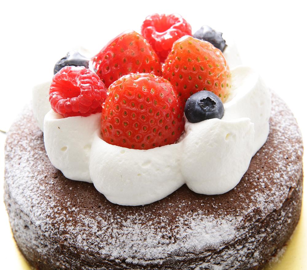 送料無料(BD)バースデーケーキ 蒸しショコラ 4号 5号 6号