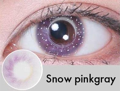 【度あり・度なし】Snowピンクグレー(1年)