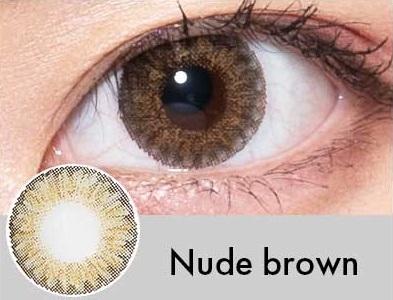 【度あり・度なし】Nudeブラウン(1年)