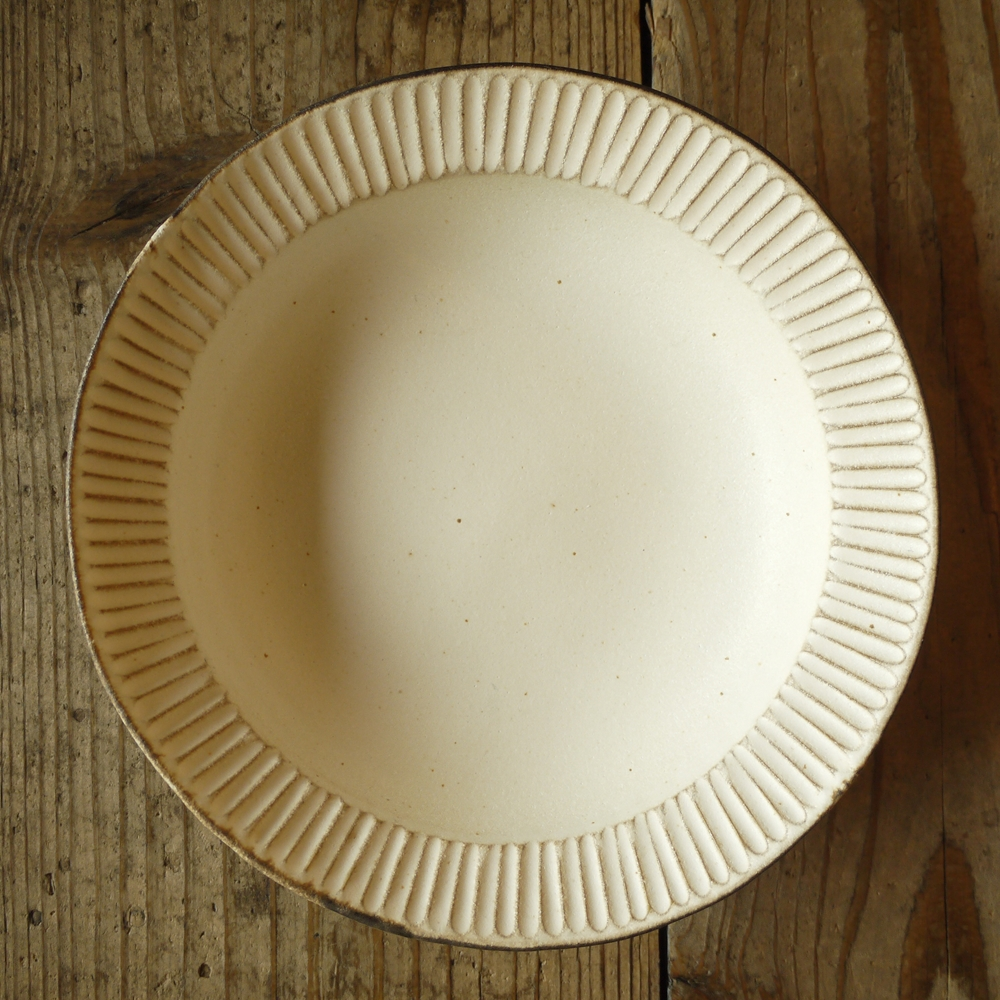 アンティークスリムライン 縁付鉢 ふち付き鉢/わかさま陶芸