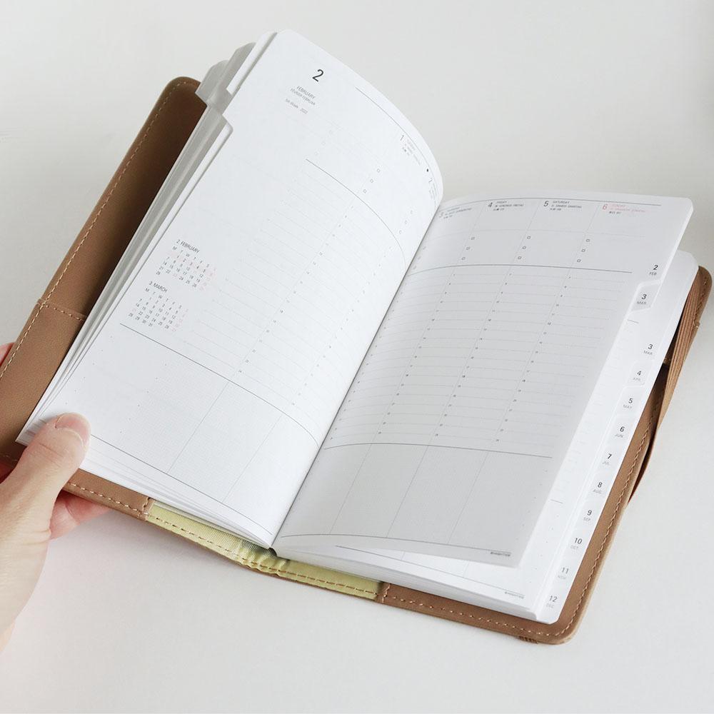 手帳 2022年 (2021年12月始まり) シェイド (B6 スリム バーチカル ウィークリー)/HIGHTIDE