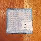 tenp02 刺子織 コースター (ライトブルー)