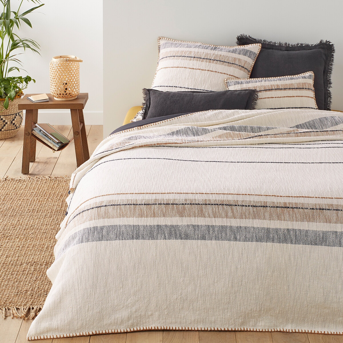 Summer Roots Striped Bedspread