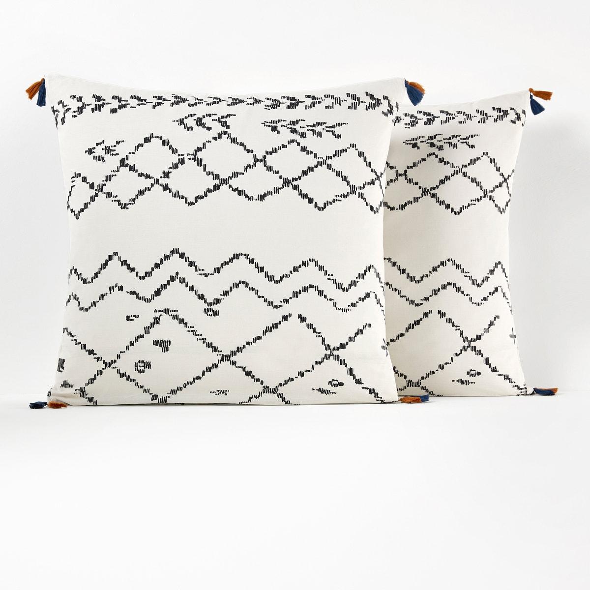 AFAW Berber コットン プリントタッセル枕カバー