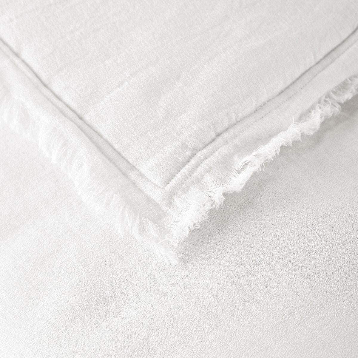 ANCHALY リネン/コットン キルト中綿入りベッドスプレッド