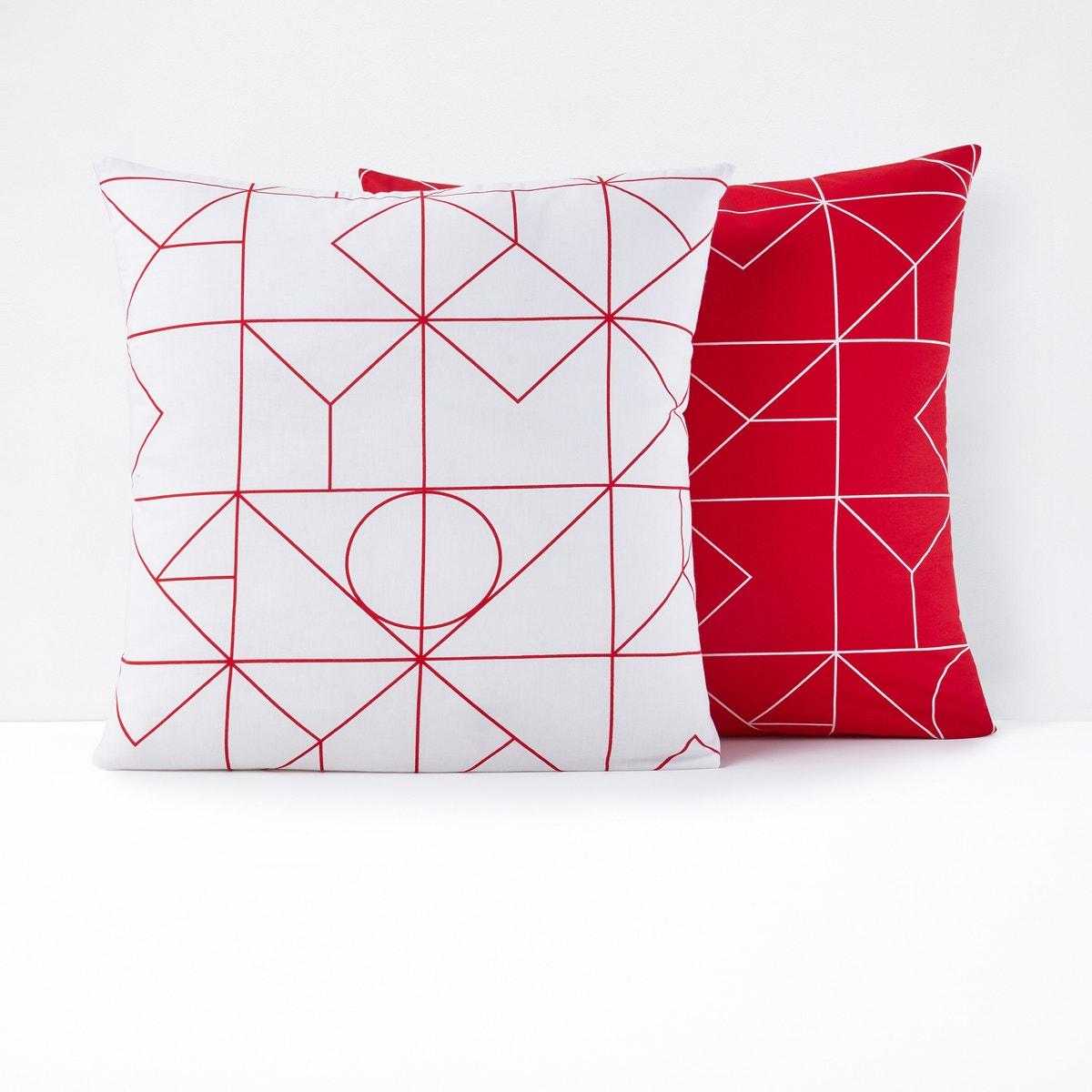 Vidmey コットン 幾何学模様プリント枕カバー