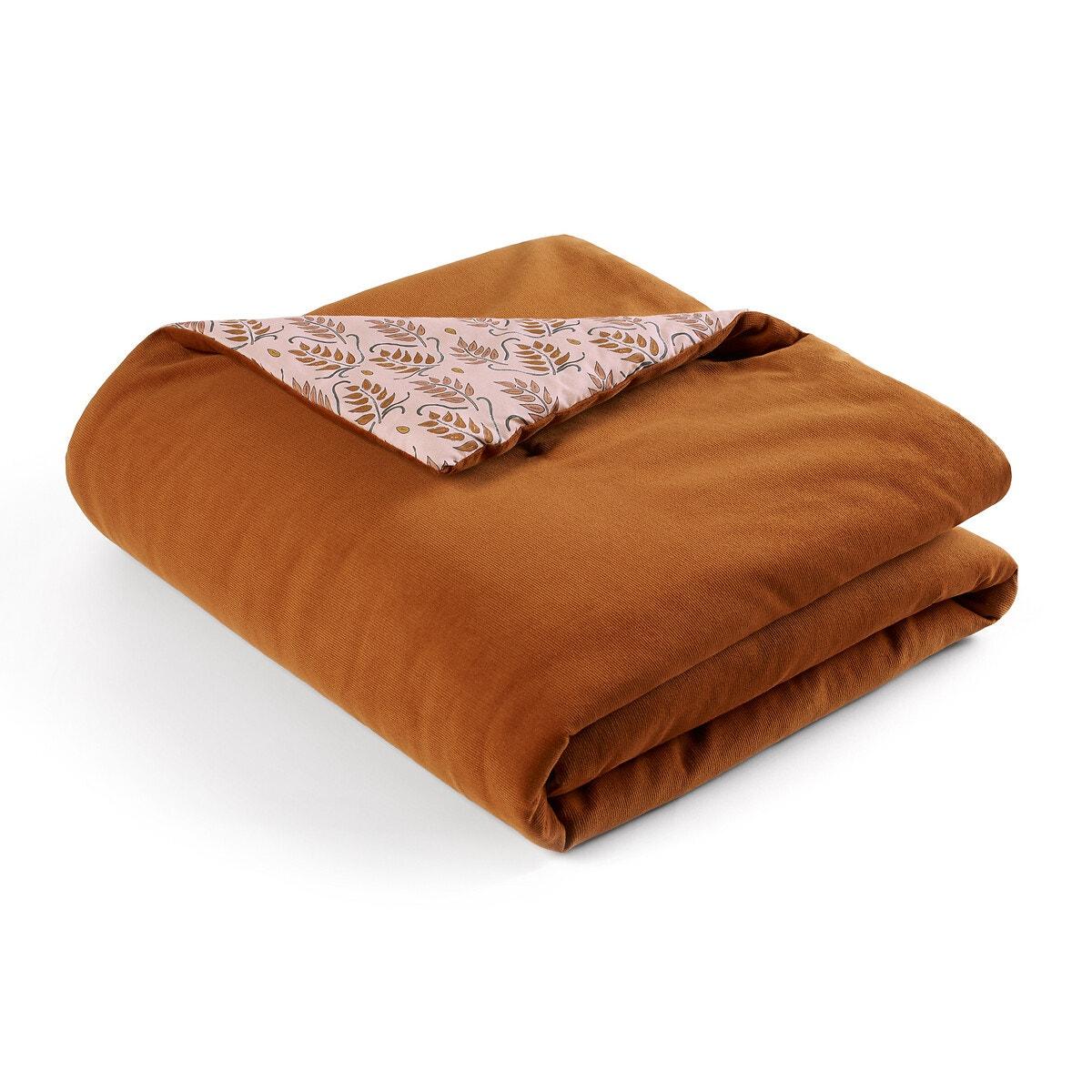 DARIO ベロア/ウォッシュ加工コットン キルト中綿入りベッドスプレッド リバーシブル