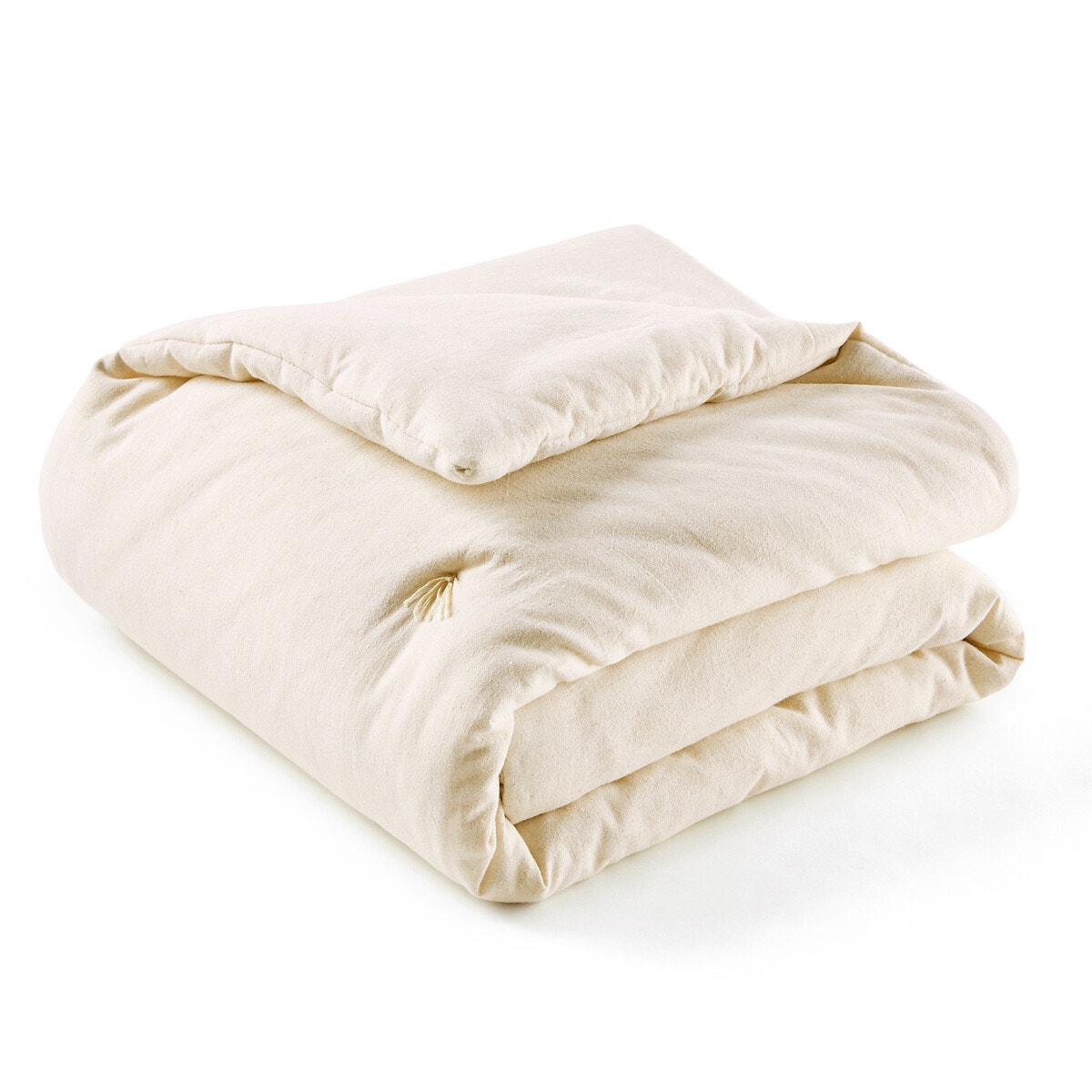 Abella リネン/ウォッシュ加工コットン 中綿入りベッドスプレッド