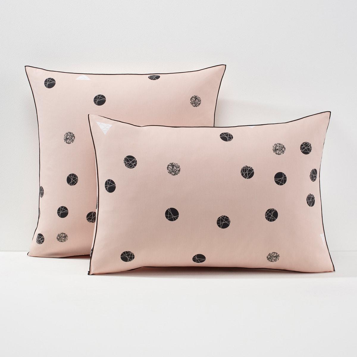 Bellvik コットン 幾何学模様プリントパーケル 枕カバー