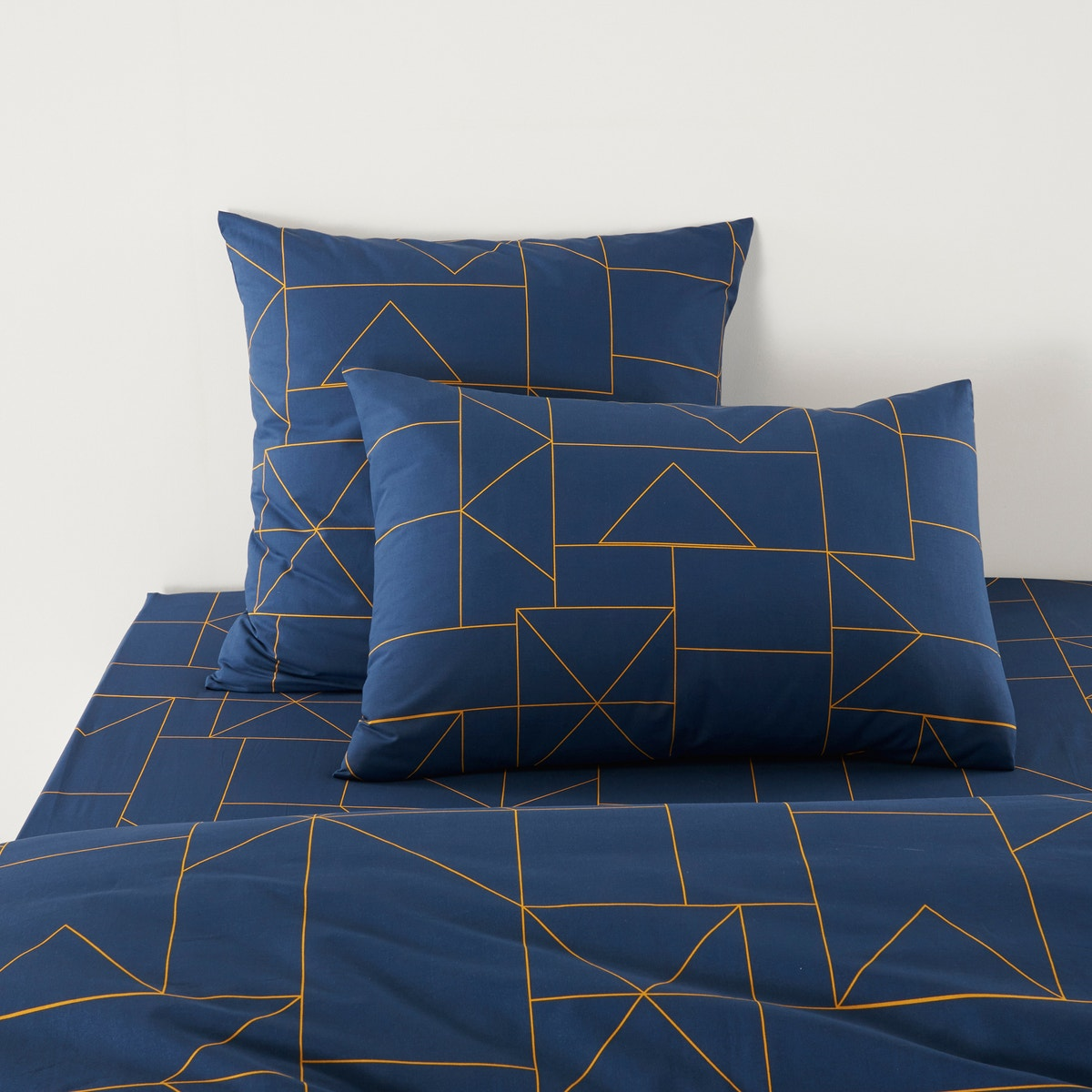 Dwight コットン 幾何学模様プリント枕カバー
