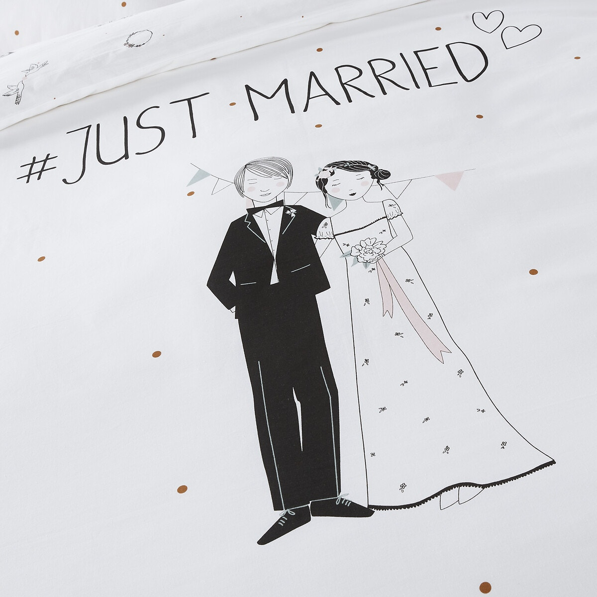Just Married コットン 掛け布団カバー