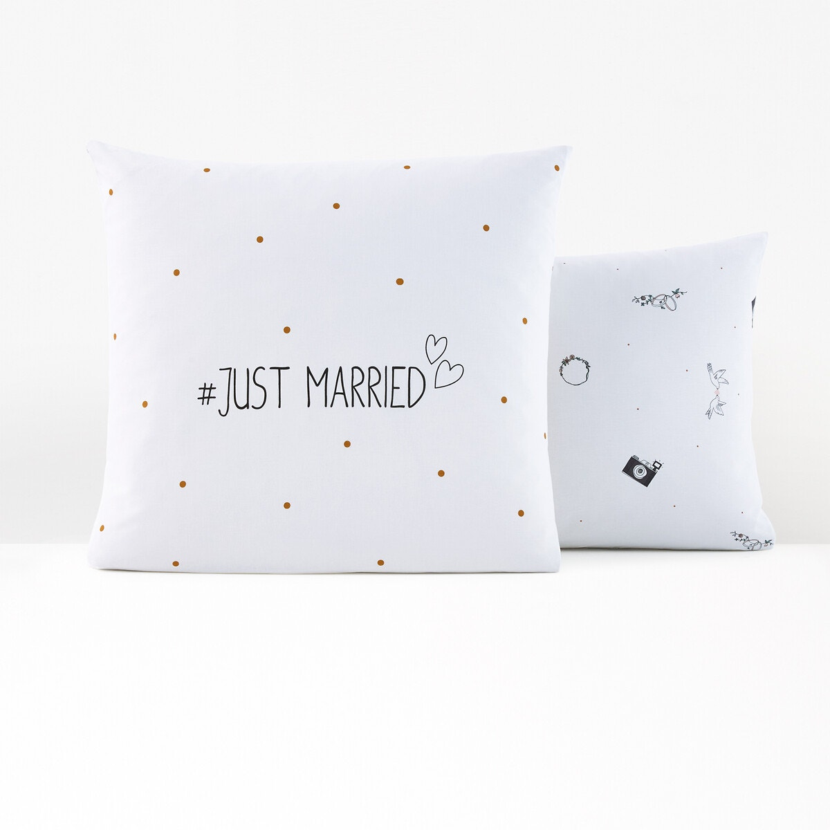 Just Married コットン 枕カバー