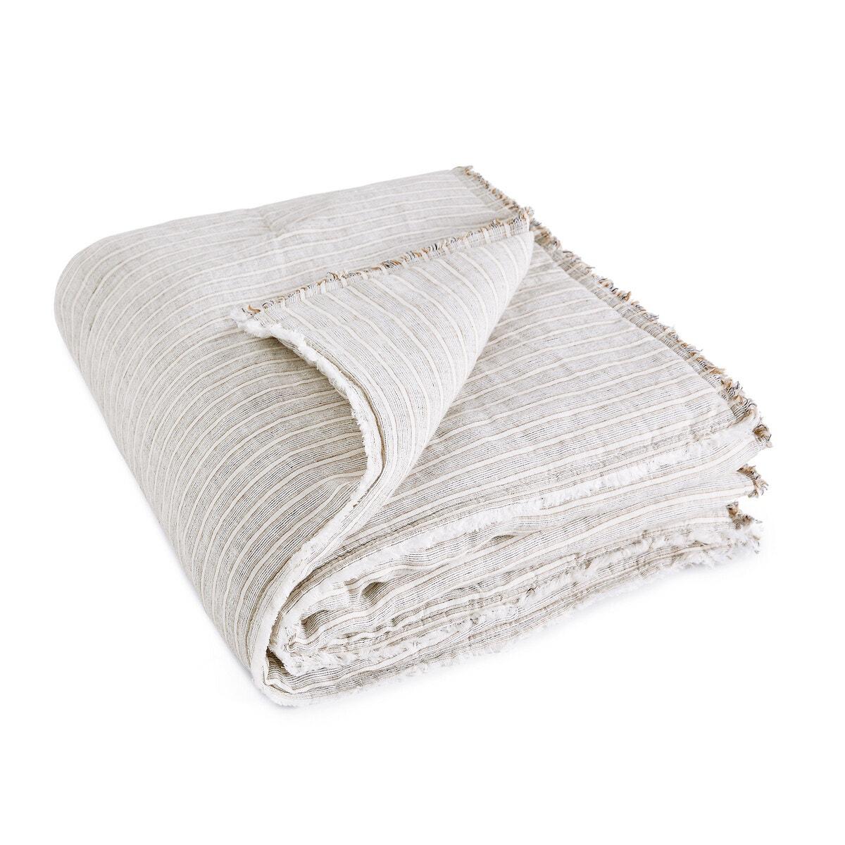 Kalong リネン キルト中綿入りベッドスプレッド