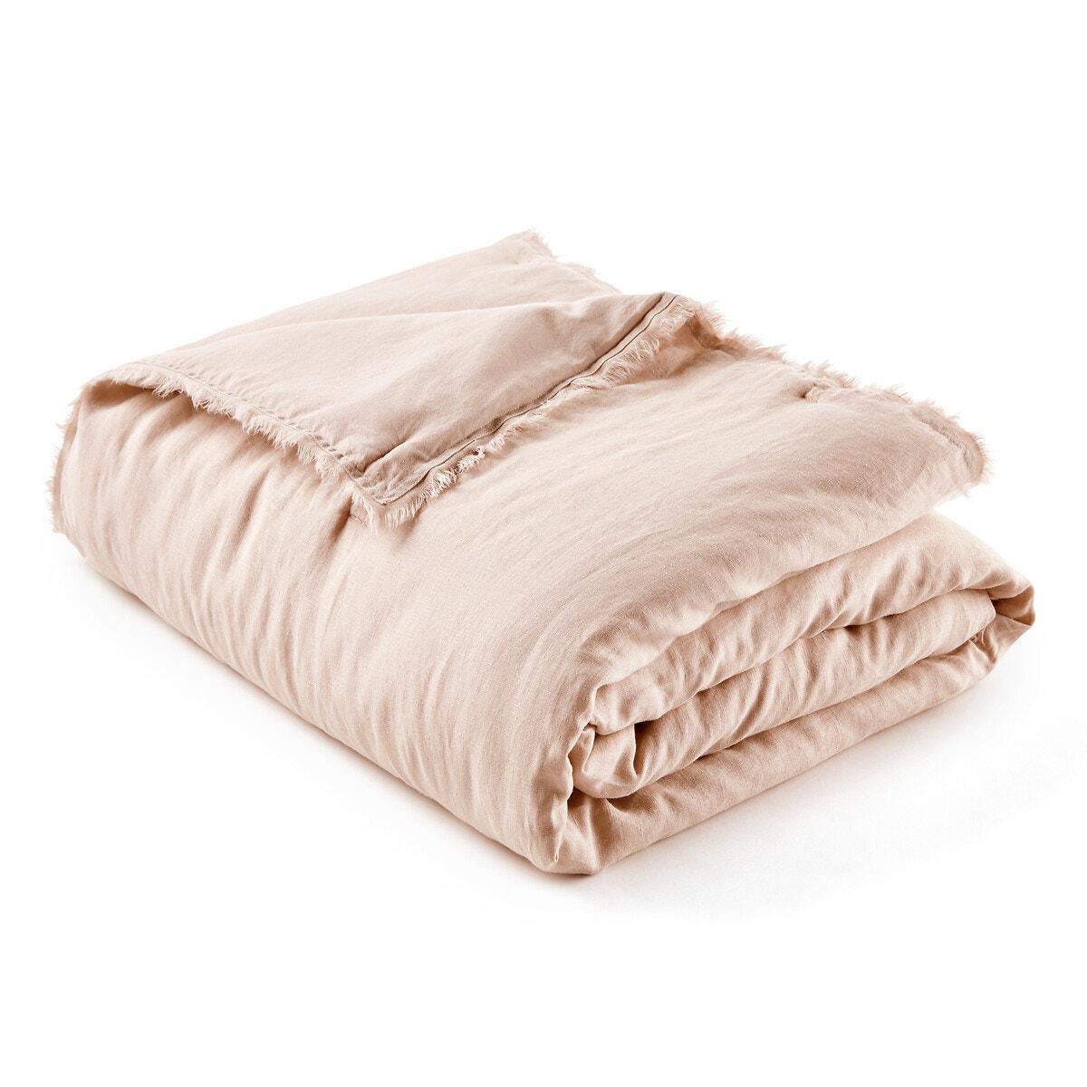 Linette コットンリネン 中綿入りベッドスプレッド