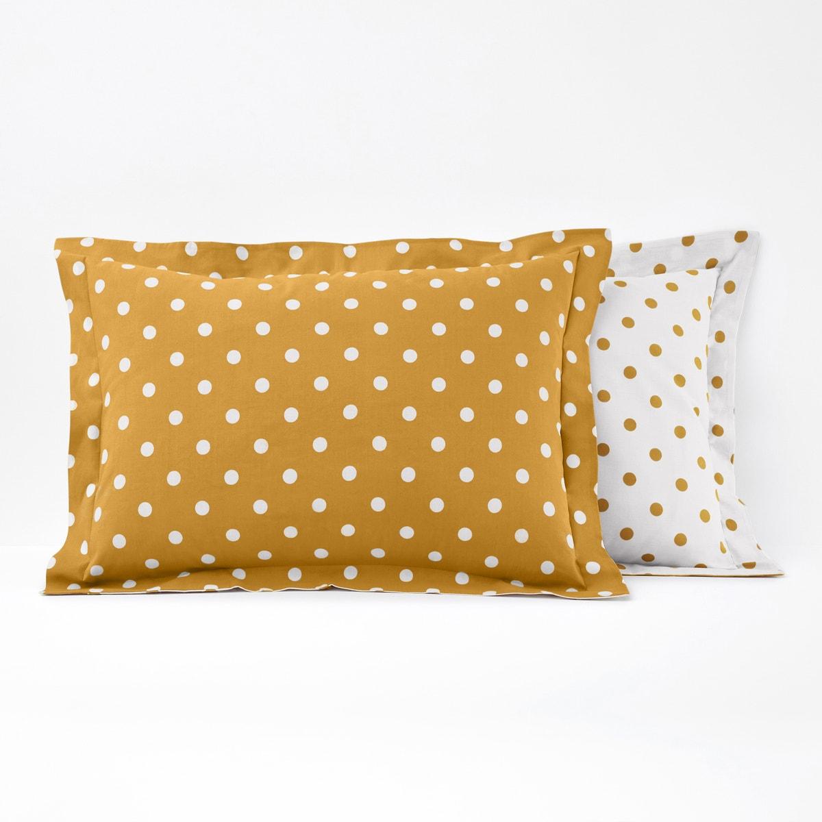 Clarisse コットン ポルカドット枕カバー