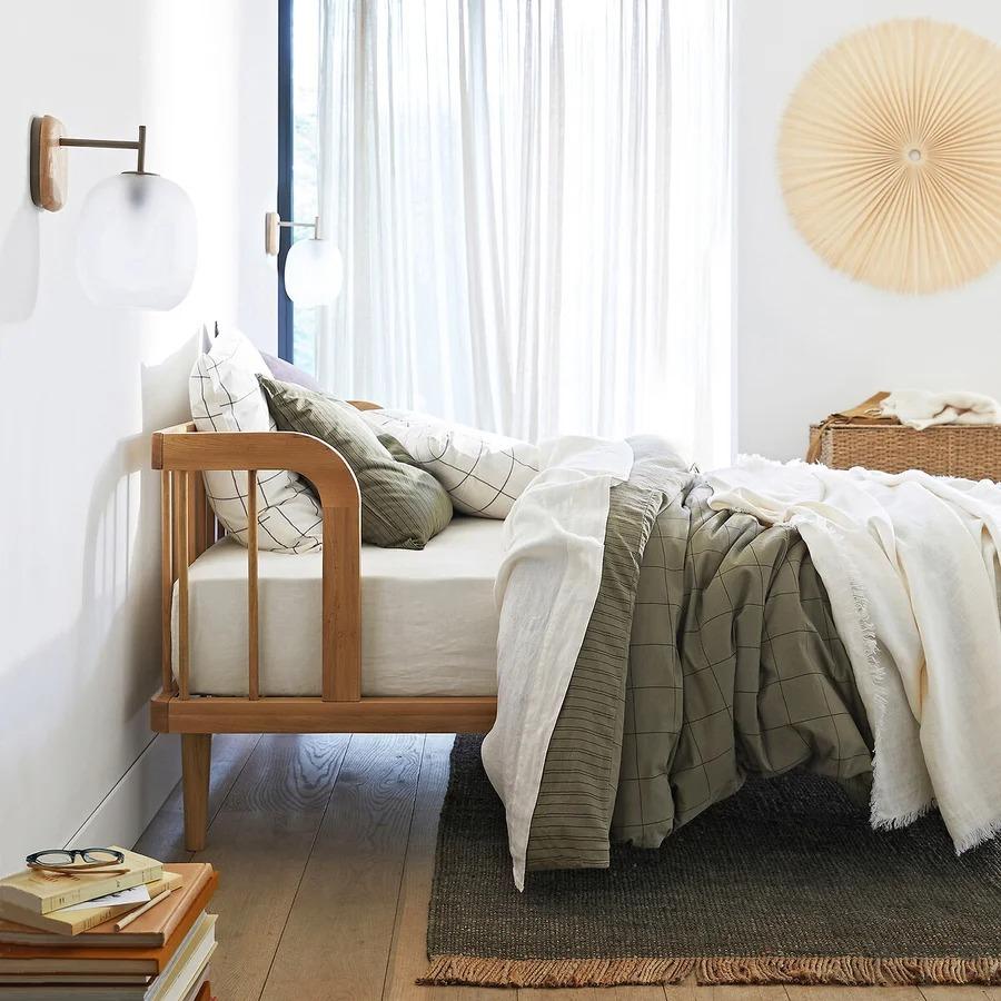 LINANGE Linen Bedspread