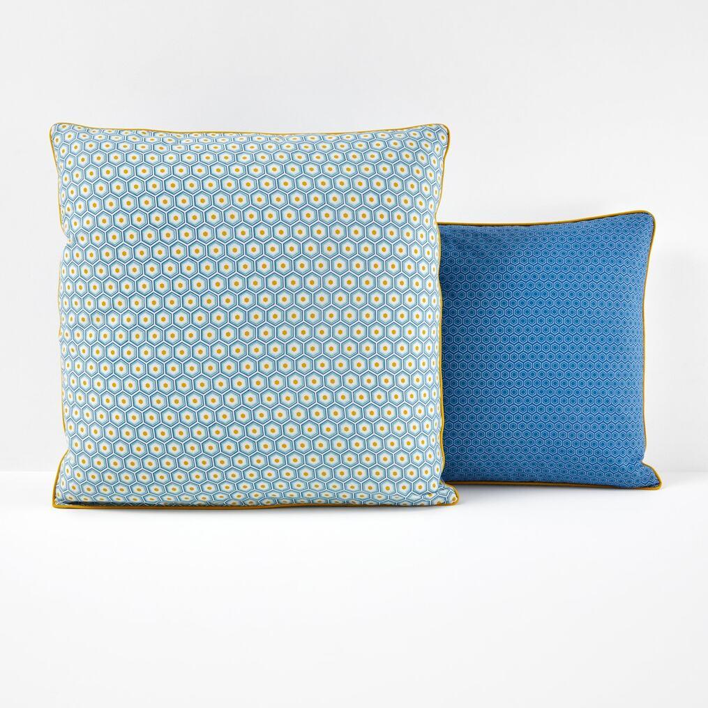 Pop Mozaic コットン プリント枕カバー