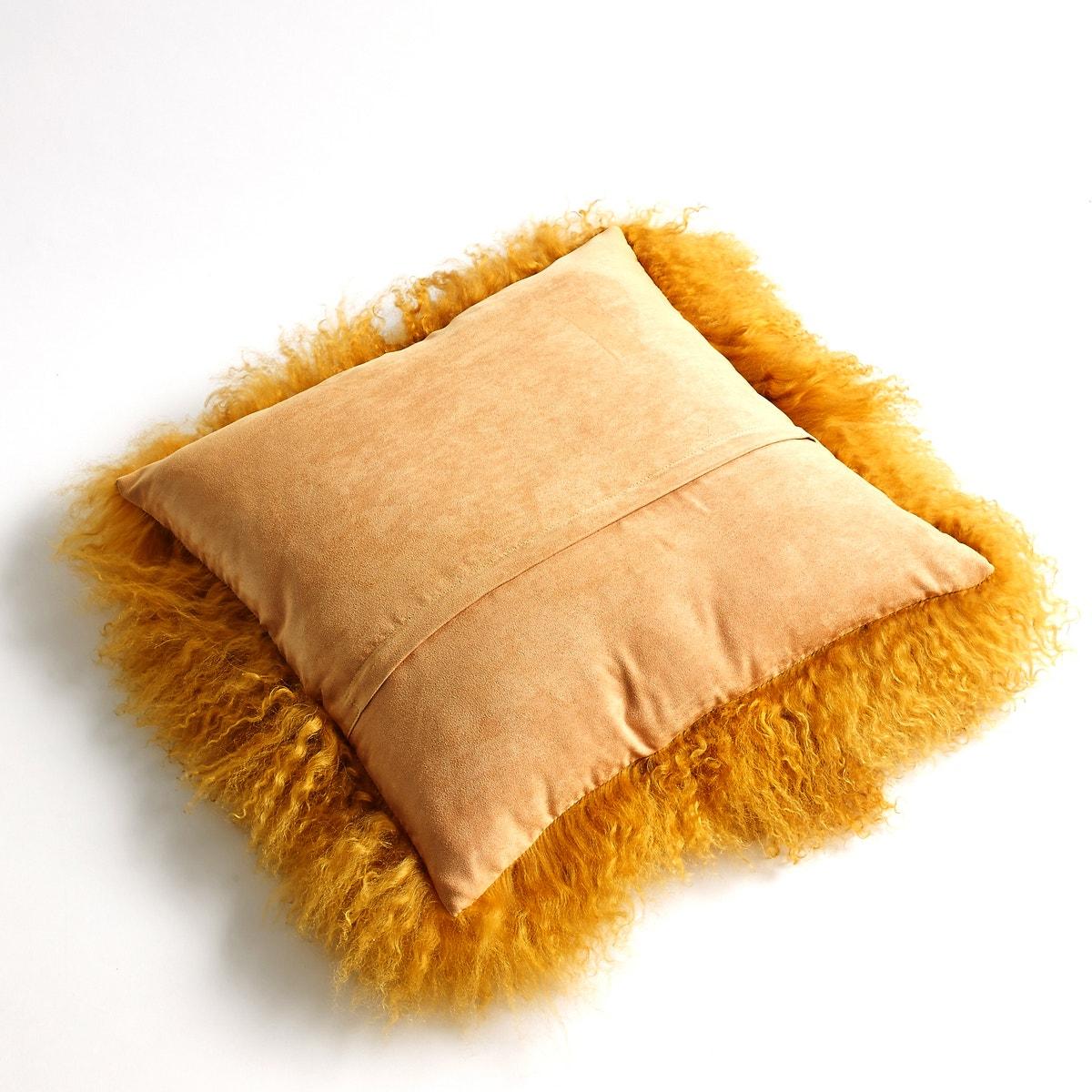 Osia Fluffy Mongolian Wool Cushion Cover