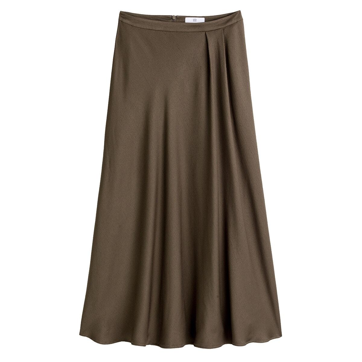 ミモレ丈サテンスカート