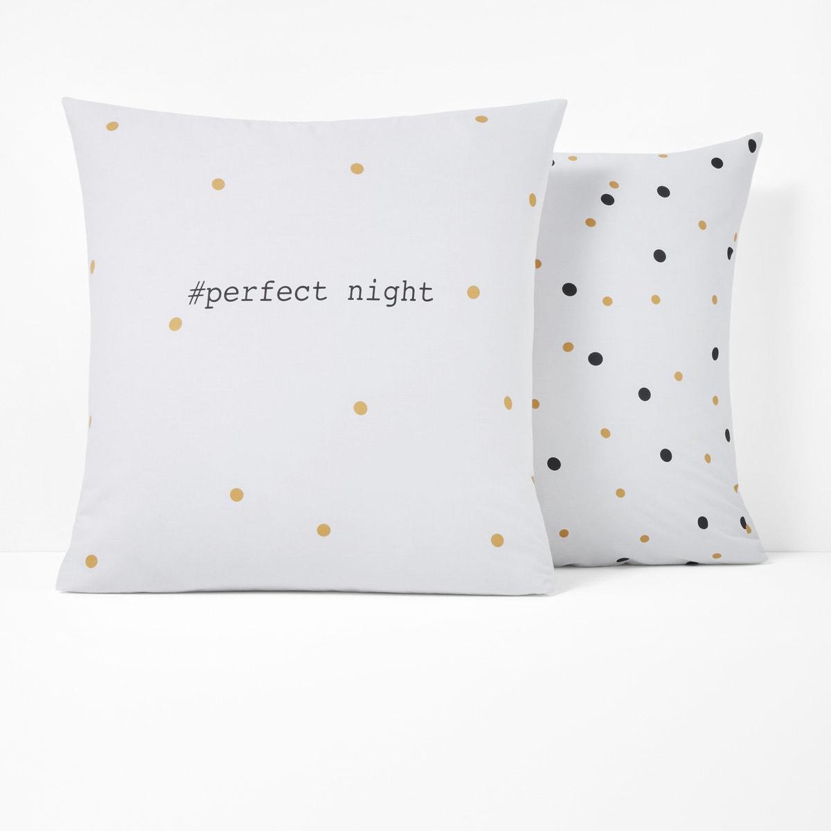 Perfect Night コットン プリント枕カバー