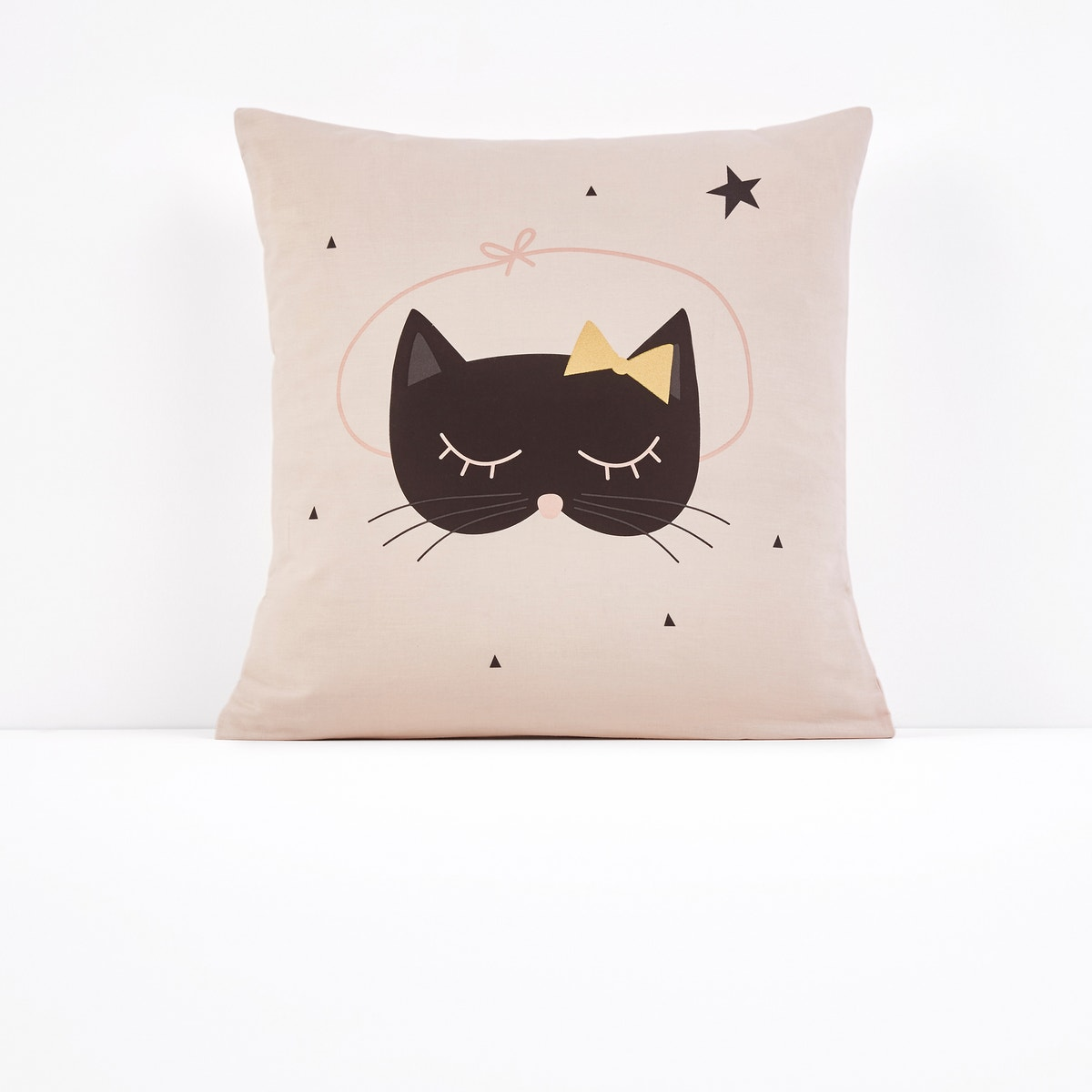 Cat Opera コットン プリント枕カバー