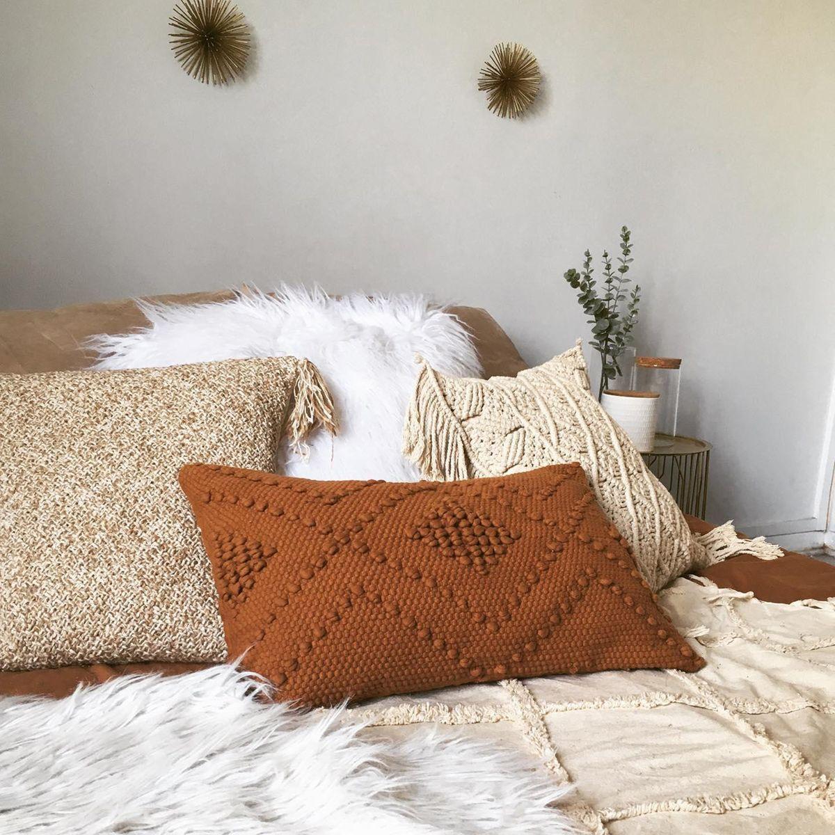 VOLOS Chunky Woven Cotton Cushion Cover