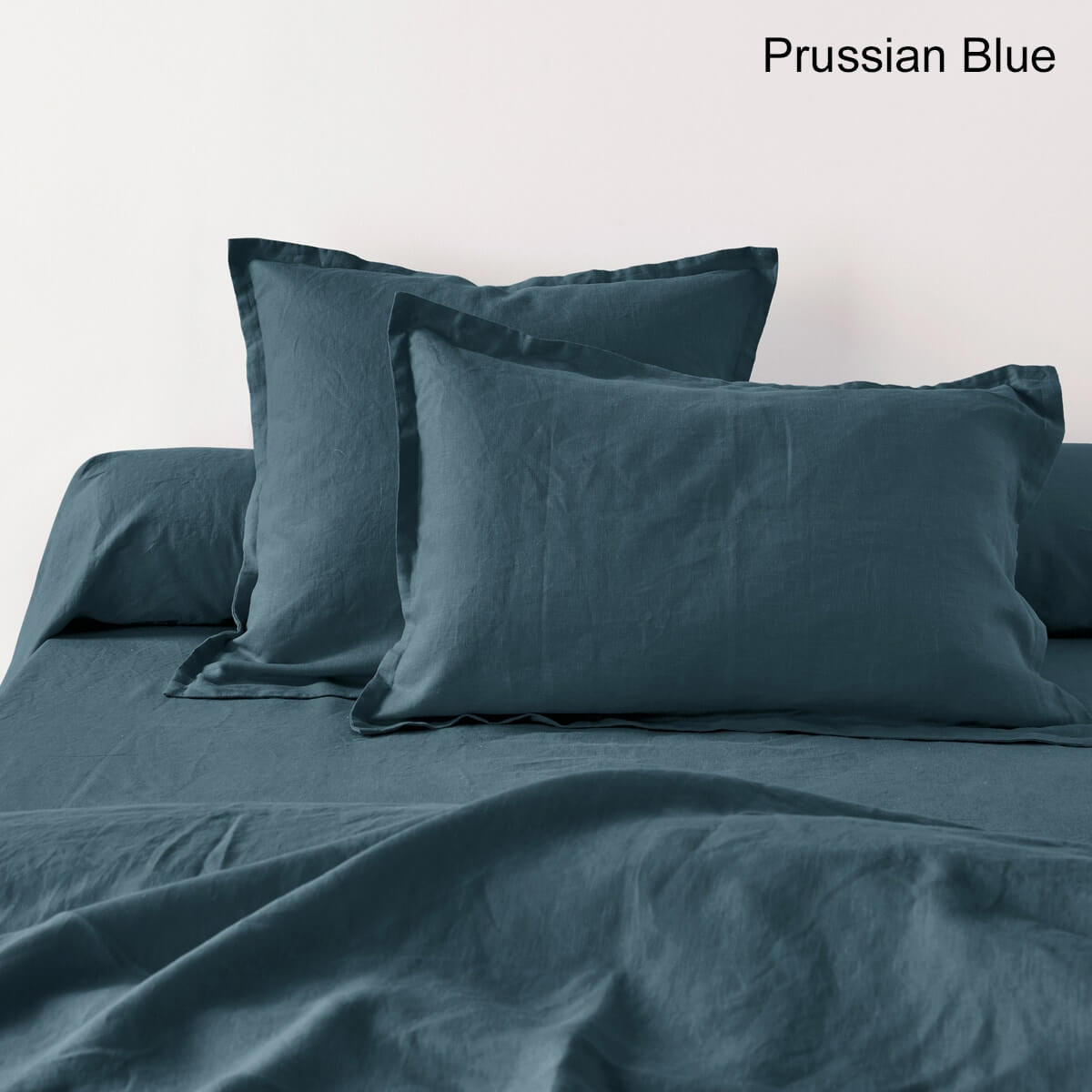 Washed Linen Plain Pillowcase or Bolster Case